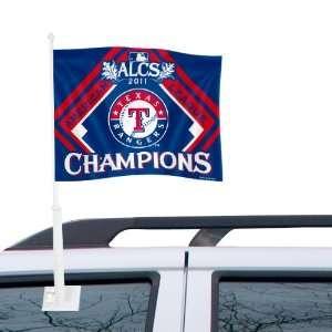 MLB Texas Rangers 2011 American League ChampionsCar Flag