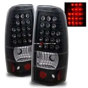 99 02 Chevy Silverado LED Tail Lights   Black Automotive