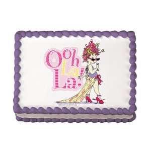 Fancy Nancy Edible Cake Image Birthday Party