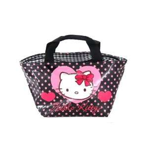 Heart Shaped Hello Kitty Lunch Box Case Bag Black