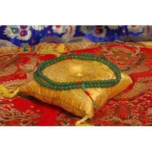 Green Jade Mala 108 Beads for Meditation with Handmade