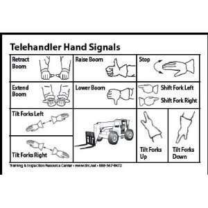 Telehandler & Forklift Hand Signal Card (Packet of 25