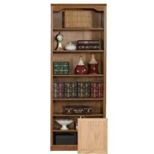 Coastal 14384NGUN Coastal Classic Oak 84 Open Bookcase