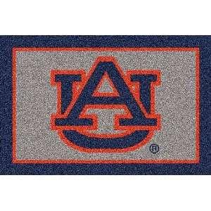 Auburn Tigers Blue UA 5 x 8 Team Door Mat: Sports