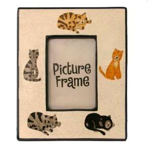 CURIOUS CATS WHISKERS & WHIMSY CERAMIC PICTURE FRAME