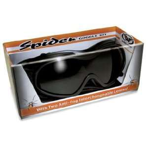 Spider kit motorcycle goggles clear and smoked interchange
