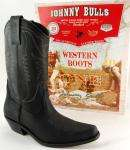 ANKLE WESTERN BOOTS MENS LEATHER JOHNNY BULLS BLACK BROWN NEW