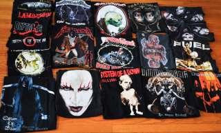 METAL SHIRTS LOT 19 TOTAL XL/L Metallica/Judas/Priest Marilyn/Manson