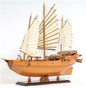 Chinese Junk Wooden Pirate Model Ship Sailboat 27 Boat
