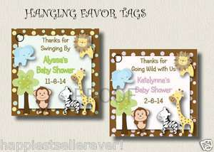 TAGS JUNGLE ZOO baby shower birthday party boy girl neutral