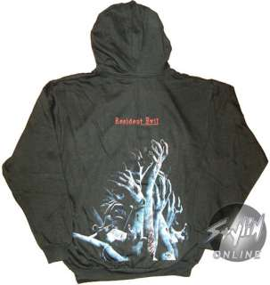 Resident Evil Zombie Hands Umbrella Hoodie Hooded Med