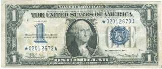 1934* FUNNY BACK BLUE SEAL SILVER CERTIFICATE STAR NOTE