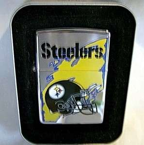 zippo PITTSBURGH STEELERS HELMET LOGO CHROME LIGHTER