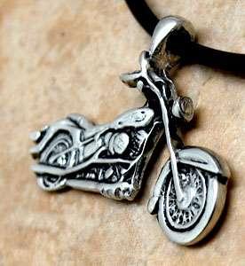 Bike/Motorcycle Biker Chopper Silver Pewter Pendant