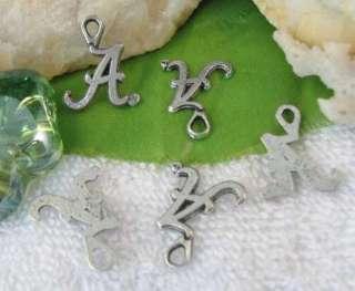 100pcs Tibetan Silver letter A shape charms SM0725