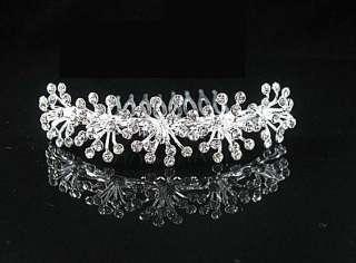 Wedding Bridal Wedding crystal tiara crown COMB 0898