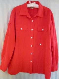 Travel Smith womens long sleeve shirt, dark peach color? size L