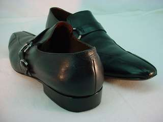 AVVA Black Mens BLACK LEATHER BUCKLE SHOES Sz 12 DRESS |