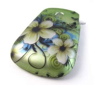 GREEN HAWAII FLOWERS HARD SHELL SNAP ON CASE COVER LG 800G PHONE