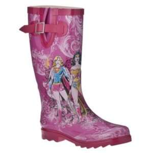 WOMENS SUPER HERO RAIN BOOTS WONDER & BAT WOMAN & MORE