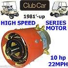 Car DS Golf Cart High Speed SERIES DC Motor 10 HP Speeds up to 22 mph