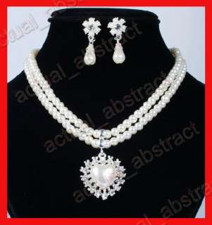 wholesale Czech rhinestone&IMITATE PEARL necklace earring 6sets