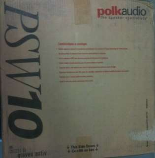 NEW Polk Audio PSW10 10 Inch Monitor Sub Black