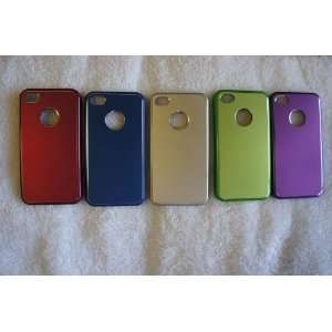 Iphone 4&4s Case High Quality Plastic with Aluminum on the