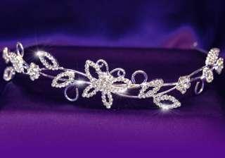 Bridal Wedding Butterfly Crystal Headband Tiara T1078