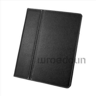 New iPad 2 Magnetic Smart Cover Leather Case Ultra Slim Stand Black