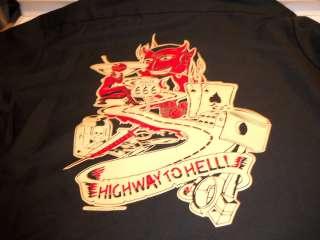 Highway to Hell Rt 666 Devil Rockabilly Lucky 13 Workshirt Work Shirt