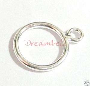 Silver CLOSED DOUBLE JUMP RING Pendant Connector 15mm  