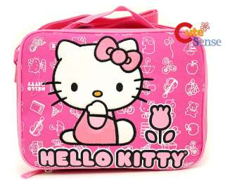 Hello Kitty Lunch BAG School Snack Carry Box Pink Tulip