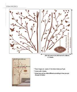 Secret Garden Tree Wall Window Decor Art Sticker Decals