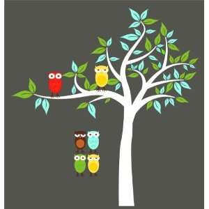 Kids Tree with 2 owls and set of 4 FREE owls you can use for tree or a