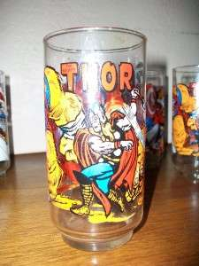 Vintage Avengers Marvel Comics Glasses 1977 7 11 Edition Thor