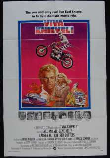 KNIEVEL 1977 Evel Knievel, Gene Kelly, Lauren Hutton ORIGINAL MOVIE