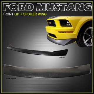 05 09 FORD MUSTANG V8 URETHANE FRONT BUMPER LIP SPOILER SHELBY GT