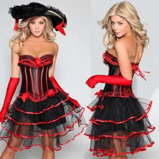 moulin rouge burlesque costume Corset Top Dress & Skirt