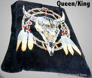 Dream Catcher Cow Skull Super Soft Blanket Queen / King