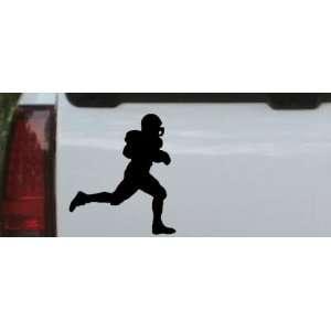 Football Player Running Sports Car Window Wall Laptop Decal Sticker