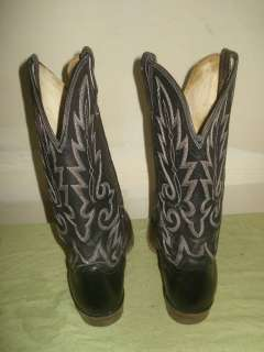 DAN POST MEN VINTAGE COWBOY WESTERN BOOT SIZE 11 D