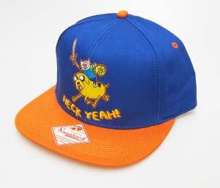 Adventure Time Finn Jake HECK YEAH Adjustable Snapback Ball Cap Hat