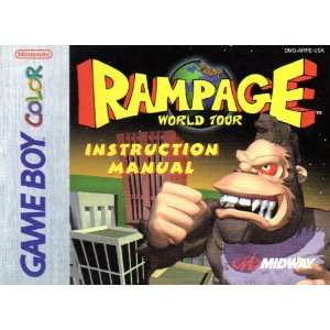 Rampage World Tour GBC Instruction Booklet (Game Boy Advance Color