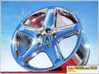 Set of 4 New Chrome 17 Acura TL OEM Factory Wheels Rims CL RL TSX MDX