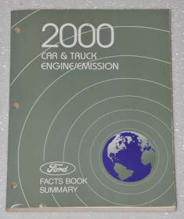 2000 FORD CAR TRUCK MUSTANG F150 F250 LINCOLN Engine Emission Facts