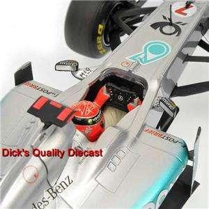MICHAEL SCHUMACHER LIMITED EDITION #7 2011 MERCEDES GP SHOW CAR 1/18