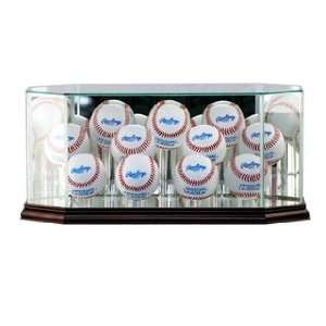 (11) Baseball Display Case with Cherry Wood Molding