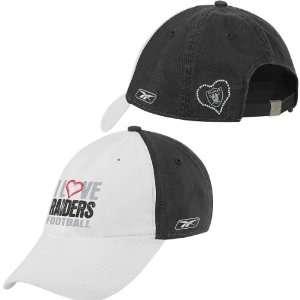 Reebok Oakland Raiders Womens I Love Slouch Hat
