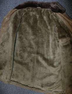 LEATHER ~ BROWN Men German Hunting Western Ranch Suit Overcoat Coat